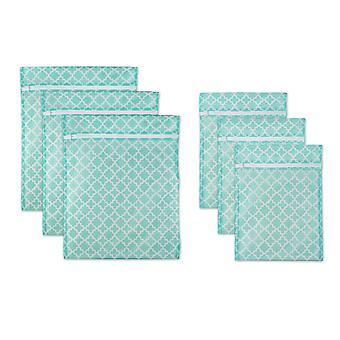 Dii Aqua Lattice set una borsa da bucato in rete (set di 6)