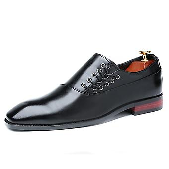 Módne obchodné šaty Muži Classic kožené obleky topánky