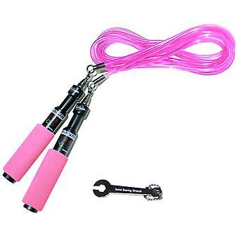 Buddy Lee Schwarz Aero Speed Jump Seil mit rosa Schnur und Griffe