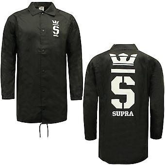 Supra Champ Trench Coaches Coat Black Mens Wind Breaker Jacket 102092 002 A38C