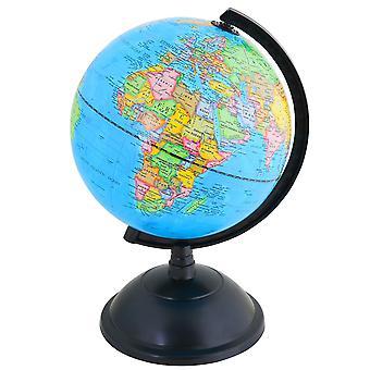 Exerz educational world globe 20cm swivel rotating desk top globe - diameter 20cm (engish) engish
