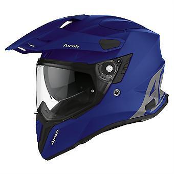 2020 Airoh Commander Adventure Helmet - Blue Matt