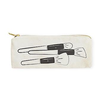 Cotton Canvas Pencil Case And Travel Pouch