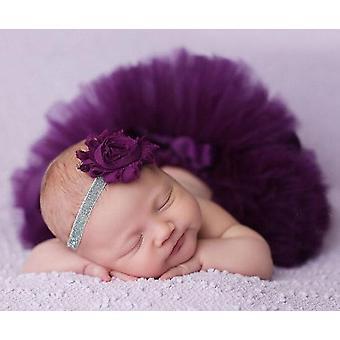 Newborn Outfit-photography Rekvizity, Princezná Tutu Sukňa so zodpovedajúcou čelenkou