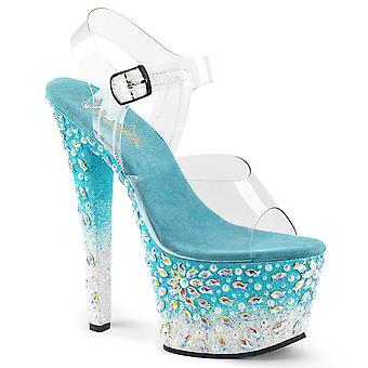 Pleaser נשים&נעליים SKY-308FISH Clr / אקווה לבן נצנצים