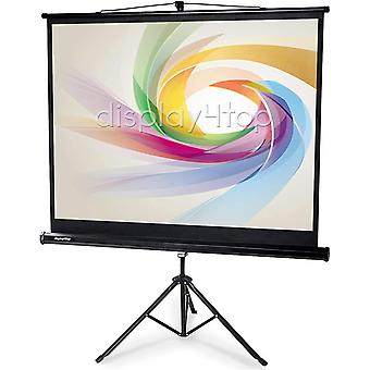"60"" Portable Tripod Projector Screen With Stand 4:3 Portable Foldable"