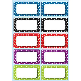 Die-Cut Magnetic Colorful Dots Labels/Nameplates, 10 Pieces