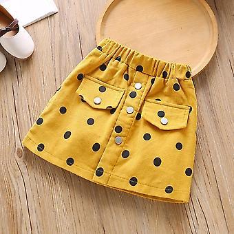 Baby Casual Elastic Waist Polka Dots Print Skirt