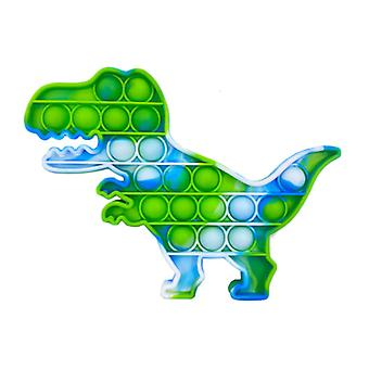 Stuff Certified® Pop It - Washed Fidget Anti Stress Toy Bubble Toy Silicone Dino Green-Blue-White