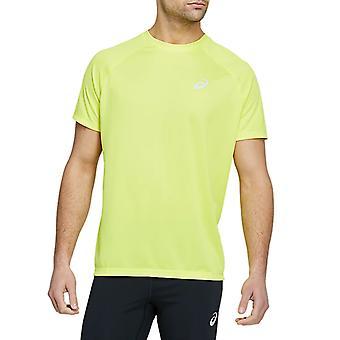 Asics Sport Run Miesten Juoksu Liikunta Fitness T-paita Paita Tee Vihreä