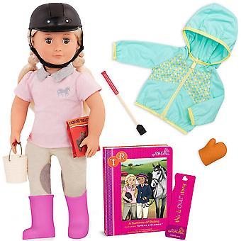 Nossa geração tamera deluxe boneca poseable e 'um verão de riding ' livro