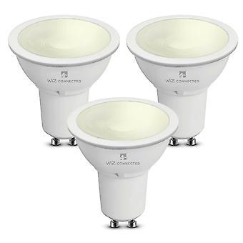 WiZ LED GU10 Smart Bulb Wifi Warm White & Dimmable, 3 Pack