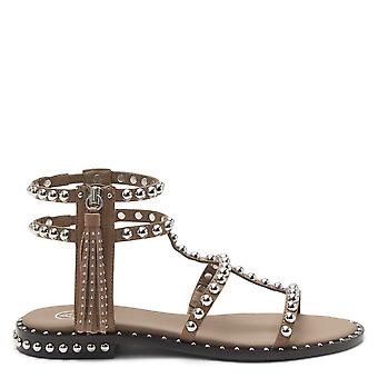 Ash Footwear Power Studded Leather Sandals Fango