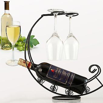 Creative Metal Wine Rack, Hanging Wine Glass Holder, Bar Stand, Bracket