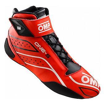 レーシングブーツ OMP ONE-S レッド/ブラック