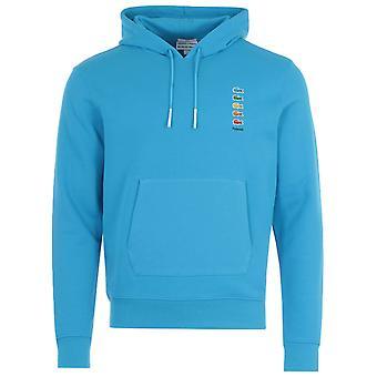 ラコステ×ポラロイドカラークロコダイルフードスウェットシャツ - ブルー