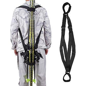 Cinturón de hombros de la tabla de esquí correa fija vendaje de mano deportes ajustables al aire libre