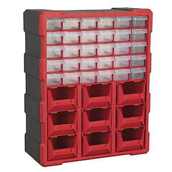 Sealey Apdc39R Cabinet Box 39 Drawer - Red/Black