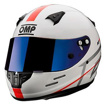 Hjelm OMP KJ8 EVO CMR Karting White (Størrelse L)
