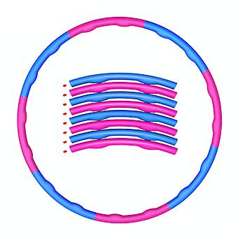 7 Knots Weighted Foldable Hula Hoop Abdominal Exercise Fitness hula ring for Adults