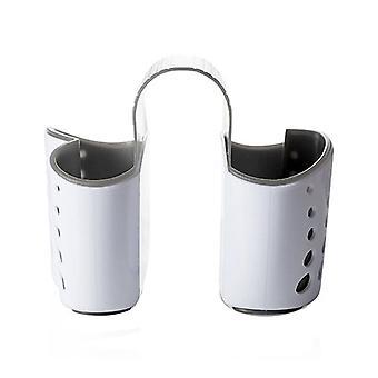 Tipo de sillín cocina esponja cesta de fregadero gris 14.5x14x12.4cm