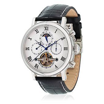 Louis Cottier Automatic 42 mm Silver Case Watch - Black Bracelet - HS3370C3BC1