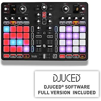 P32 DJ (2-Deck DJ Controller, 32 Performance-Pads, integr. Soundkarte, DJUCED, PC / Mac)
