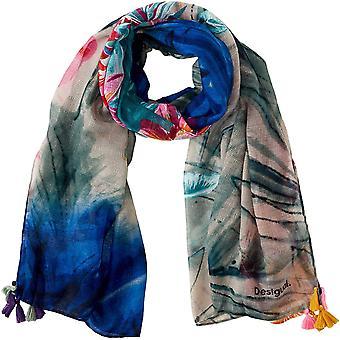 Damen FOUL_MIDNIGHT Schal, Blau (Navy 5000), One Size (Herstellergre: U)