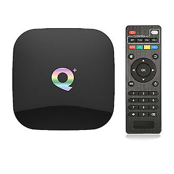 TV Box Home Cinema H6 رباعي النواة عالية السرعة HDMI B 3.0 إيثرنت 16G 32G 64G 3D فيديو فك 6K HD الذكية H.265 وسائل الإعلام لاعب 2.4Ghz واي فاي لالروبوت 9.0 (أسود)