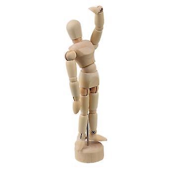 Hout 4.7Inch kunstenaar tekening pop gearticuleerde mannequin w / base en flexibel lichaam