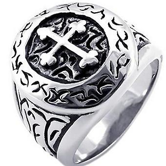 Knights templar vintage motif ring