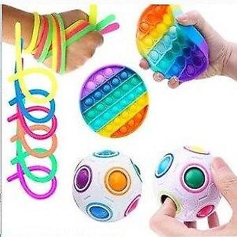 8pcs Pack Fidget Toys Sensory Toy Set Antistress Relief Fidget Toys