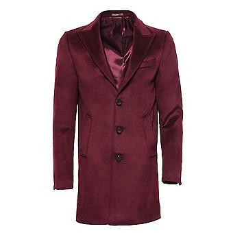 معطف طويل بورجوندي