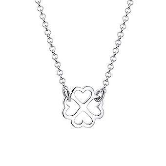 Kvinders halskæde med firkløver vedhæng, sølv 925 - 0105372815_40