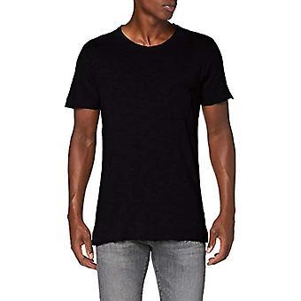 Herrlicher Ronny Jersey Linen T-Shirt, Black 11, L Men