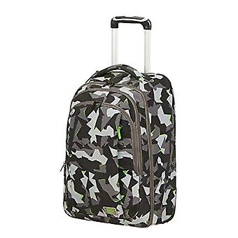 American Tourister Fast Route - 15.6 Inch PC Backpack with Wheels, 55 cm, 37 L, Multicolored (Camo/Acid Green)