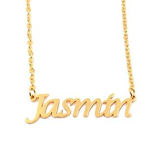 Kigu Jasmin - Adjustable Necklace with Custom Name, in Gold Plated Packaging 18 kt