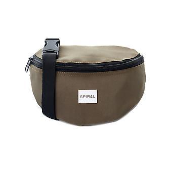 सर्पिल जैतून नितंब बैग