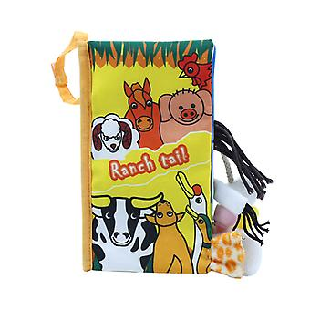Baby Cloth Books Animal Tail Books Toddler Early Development Cloth Books