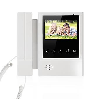 Intercom Handheld Indoor Intercom Dual-way için Renkli Ekran Video Monitörü