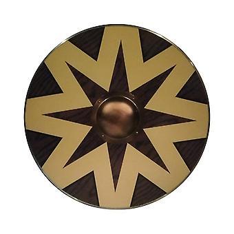 Træ slaviske Viking Star håndlavede skjold SWE37
