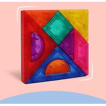 마그네틱 직소 퍼즐 9 차오 보드 기하학 조립 diy는 어린이 장난감 선물에 적합합니다.