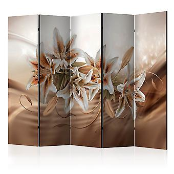 5-teiliges Paravent - Chocolate Lilies II [Room Dividers]