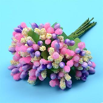 12pcs/los künstliche Blume Stamen Mulberry Draht Stiel für Hochzeitsdekoration