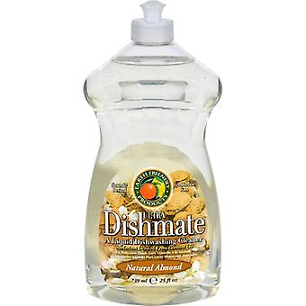 Earth Friendly Ultra Dishmate Liquid Dishwashing Cleaner, Natural Almond 25 oz(case of 6)