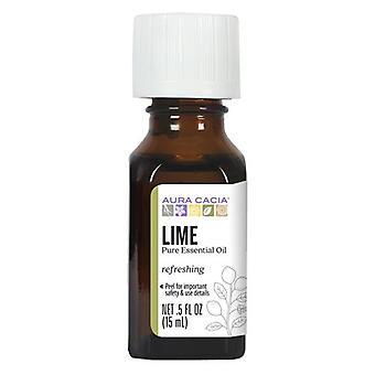 Aura Cacia Essential Oil Lime, (citrus aurantifolia) 0.5 Fl Oz