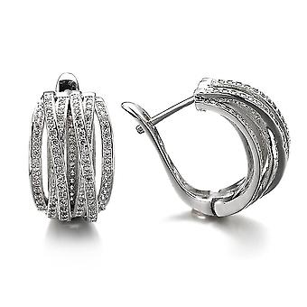 Earrings Circle Inlaid Zircon Net Celebrity Jewelry For Exhibition