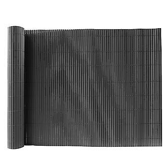 Clôture en PVC en bambou gris foncé