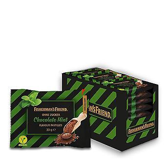Chocolate Mint: Schoko-Minz Pastillen, 20 Zip-Lock Beutel à 30g, zuckerfrei