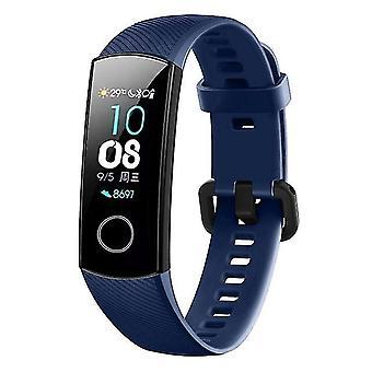 Aangesloten Siliconen vervangende band voor Huawei Honor Band 4 aqua blauw